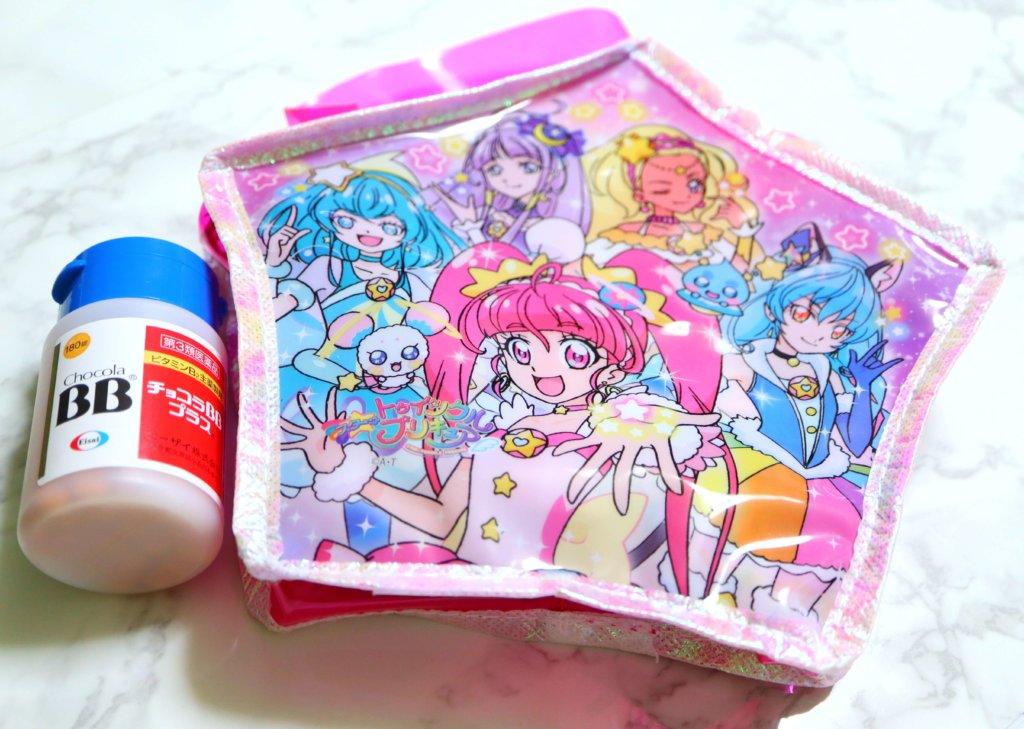 スター☆トゥインクルプリキュア おしゃれ☆ きらきらスターがたバッグとチョコラBBの比較