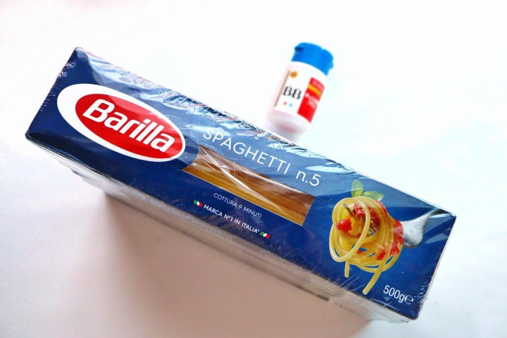 コストコで買った、バリラスパゲッティ