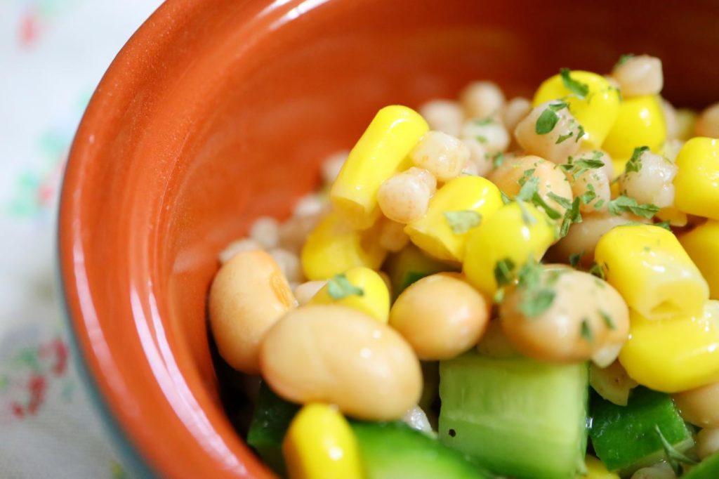 クスクスと豆のサラダ