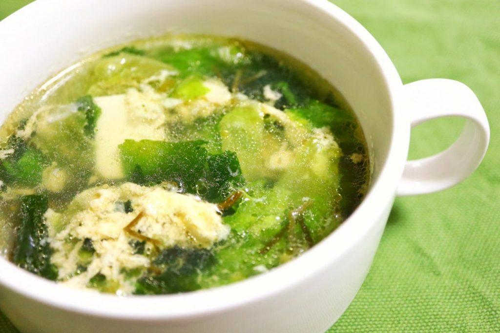 卵スープになった海藻トロっとスープ