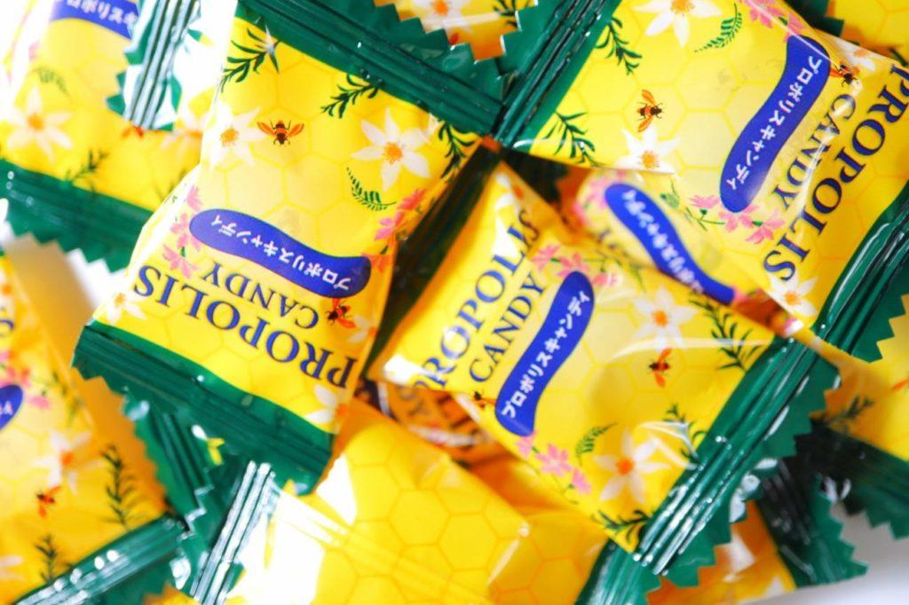 たくさんのプロポリスキャンディー