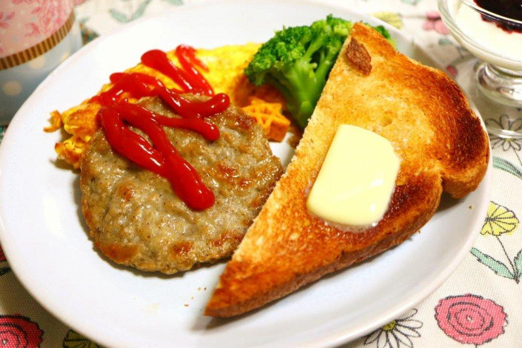 朝食になったブレックファーストパティ
