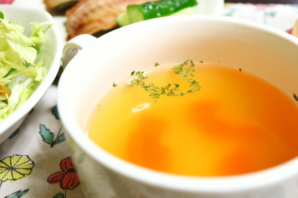 マギーブイヨンを使った野菜のスープ