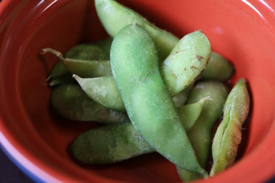 解凍後の茶豆