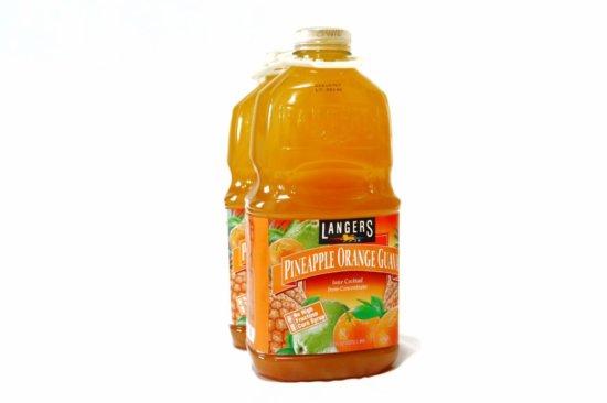 コストコで購入したランガーズパイナップルオレンジグァバジュース