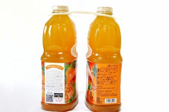 2つがくっついているランガーズパイナップルオレンジグァバジュース