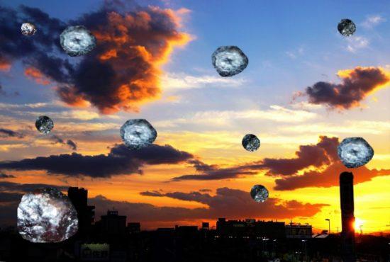 夕空とドライブルーベリー