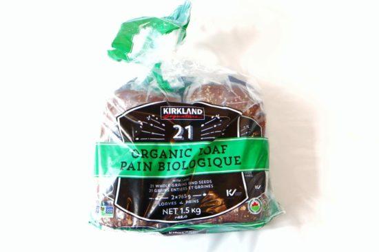 コストコで購入したカークランドシグネチャーのオーガニックパン