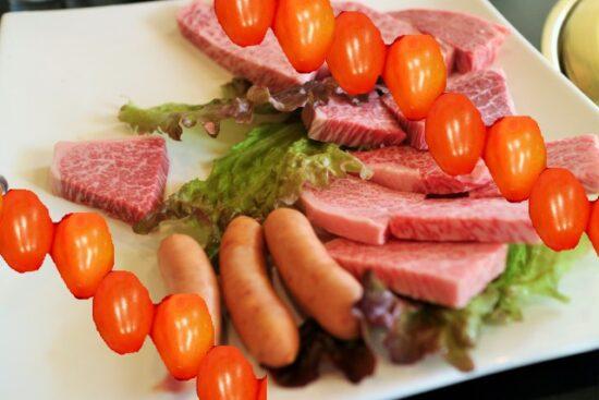 グレープトマトと焼肉