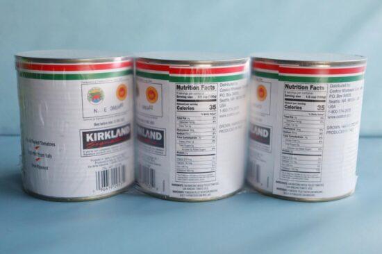 コストコで購入したカークランドシグネチャーのサンマルツァーノホールトマト缶