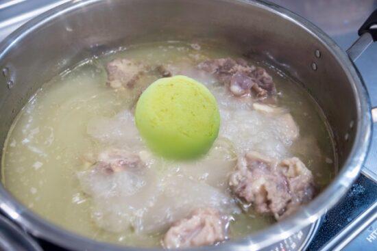 コムタンスープに入ったいのち檸檬